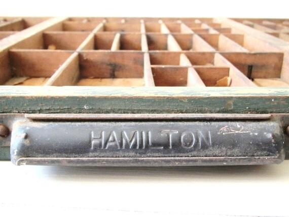 Vintage Letterpress Printer Drawer- Hamilton Brand