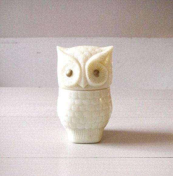 Little Vintage Avon Owl Bottle