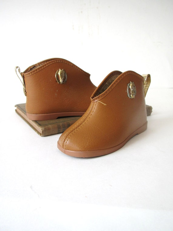 Vintage Cowboy Boot House Shoes/ Slippers for Baby/ Toddler Size 6