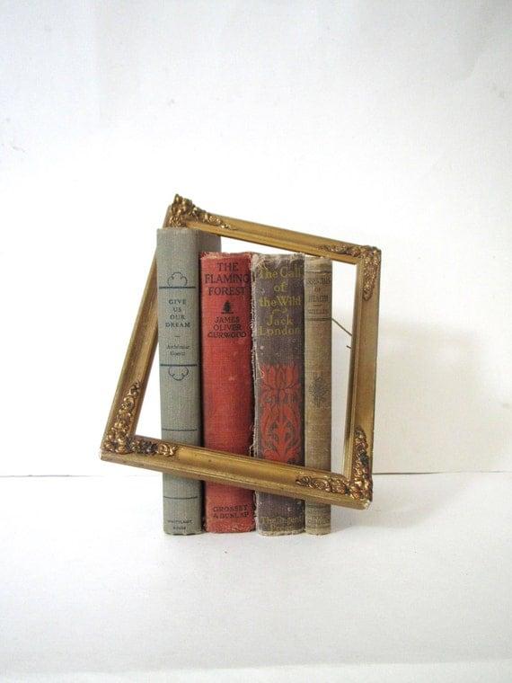 Vintage Book Bundle- Set of Four Antique Books- Purple Orange Red Photo Prop Wedding Decor Book Set