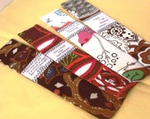 set of 4 inspirational fabric bookmarks