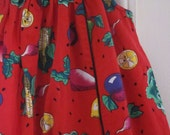 Vintage Red Fruits and Veggies Jumper