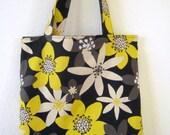 Tote Bag-Flower On Black