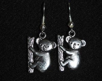 Koala Earrings in Silver
