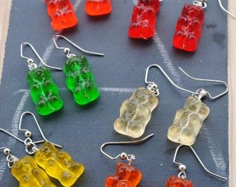 REAL Gummy Bear Earrings (non-edible)