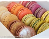 Macaron Rainbow in a Box - French Macaroons, food photography, kitchen decor, home decor - 8x12 and up Original Fine Art Macaron Photography