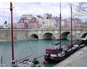 Paris photograph - Île de la Cité in Technicolor -  La Seine river, surreal, colorful, wall decor 8x12 and up - Original Fine Art Photograph