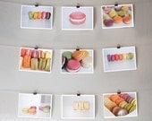 Macarons - Set of 9 - 5x7, French macarons, macaroons -  Original Fine Art Food Photography