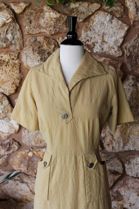 Vintage 1940s  Day Dress Large