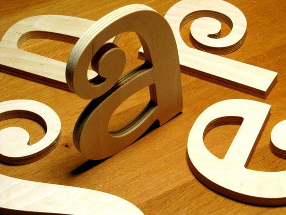 Unique Wooden Letters - 8 Inch