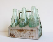 RESERVED FOR LIBELULAS - Vintage Coca Cola collectible metal carrier caddy and bottles 1950s