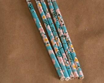 flowers  5 pencil set