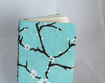 Blue Peach Blossom lined journal