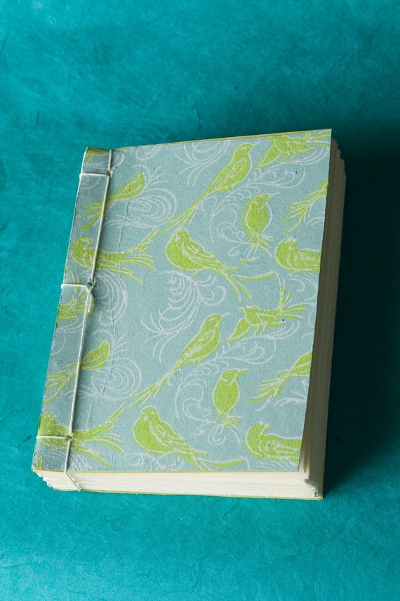 ON SALE Birds Japanese Stab-bind Journal