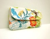 Spring Floral with Birds Clutch by waterpath