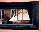 Nautical Decor - Sailboat Art Print - Charleston Photography - Coral and Black - Sailing - Wall Art - Boat Photo - Home Decor - To the Sea
