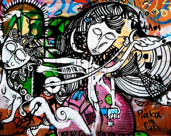Graffiti Photography - Street Art Photograph - Plaka Photo - Athens Greece Photography - Colorful Print Urban Home Decor Women Art