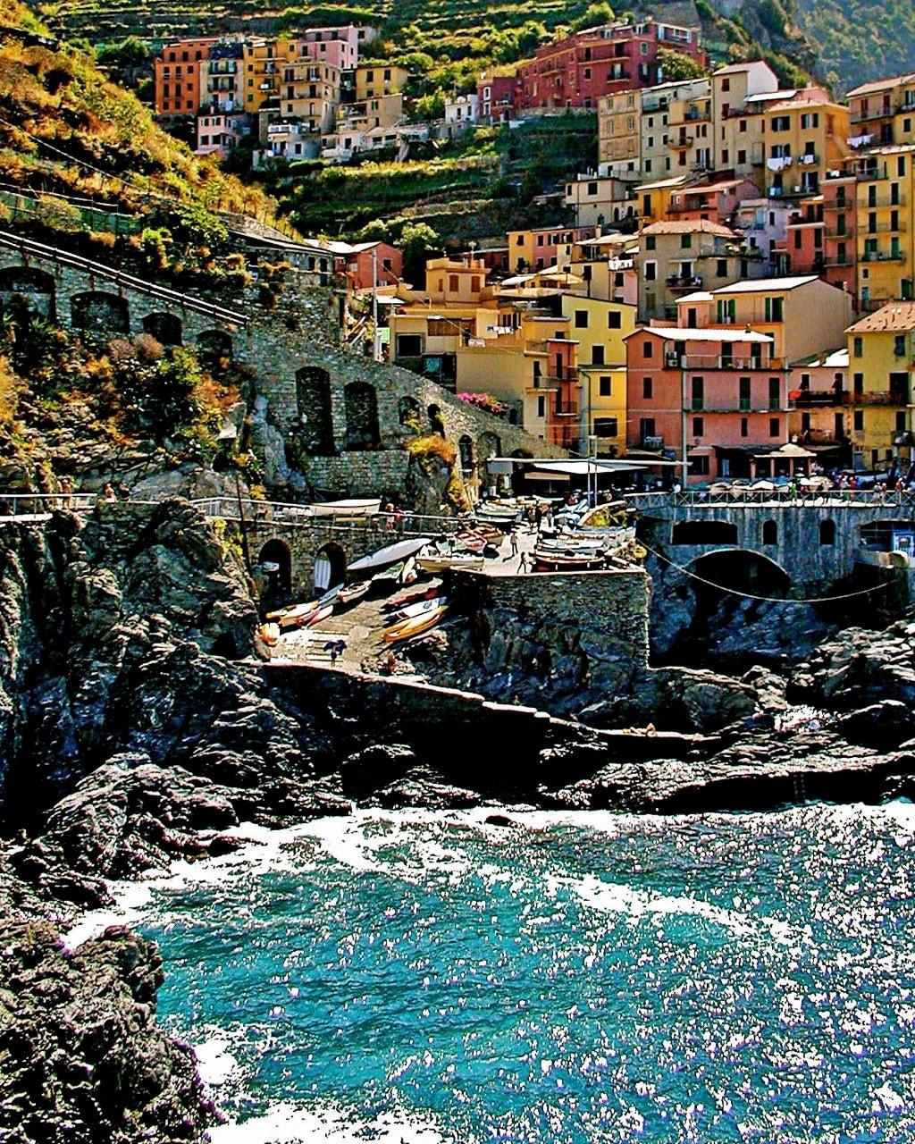 Italy Home Decor: Italian Home Decor Cinque Terre Colorful Print By VitaNostra