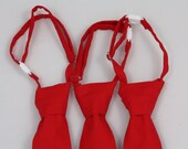 Solid Red Clip on Necktie - Infant, Toddler, Boys