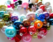 Colorful Crystal and Glass Pearl Cha Cha Bracelet