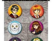 Harry Potter Pinback Button Set of 6