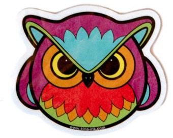 Angry Owl Vinyl Sticker