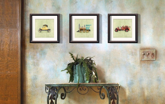 Items similar to 4 set of prints your choice of design for 8x8 room design