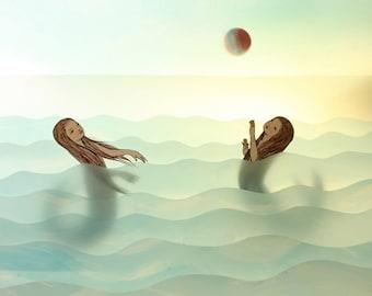 Catch - print by Elly MacKay