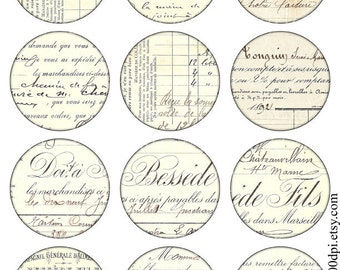 Vintage Printable Tags Background Digital Collage Sheet large circle images ephemera background Download and Print