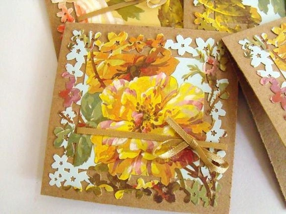 Francesca Mini Notecards with Ribbon Embellishment 10 Pieces