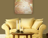 CoPPERLiNE original abstract modern painting - gallery fine art - contemporary interior design - ooak home wall decor - gold spiral