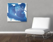 BuBBLeS original abstract modern painting - gallery fine art - contemporary interior design - ooak home wall decor