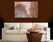 AFTERNOON TeA original abstract modern painting -  gallery fine art - contemporary interior design - ooak home wall decor - bronze