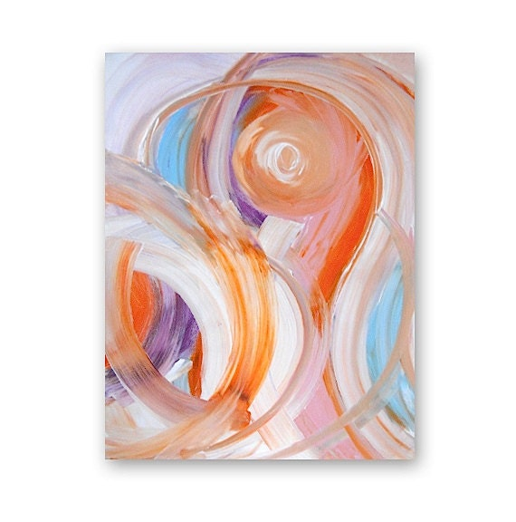 iMELDA limited edition contemporary art print - modern interior design - wall decor - pastels - gestural