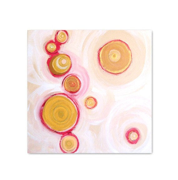 HEAVENLY BODiES limited edition contemporary art print - modern interior design - home wall decor - geometric red orange circles