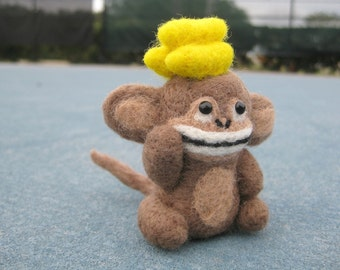 Felted Monkey - Needle Felted Animals - Monkey Doll