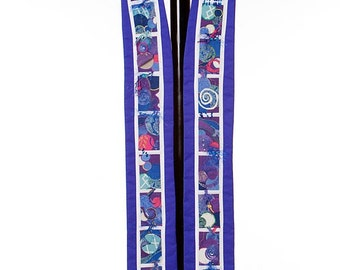 Clergy Stole -- Purple Liturgical Stole for Advent and Lent