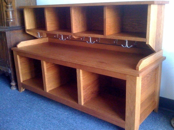 Entryway Bench And Shelf With Coat Hooks By Kennedywoodworking