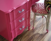 Peony Pink Vintage French Provincial Desk