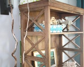 Vintage Driftwood Etagere, Rustic Natural Bookcase
