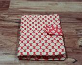 Kindle Fire Case, Kindle 3 Cover, Kobo Case, Nook Color Cover, eReader Book Cover- Amy Butler Wallflower red ivory