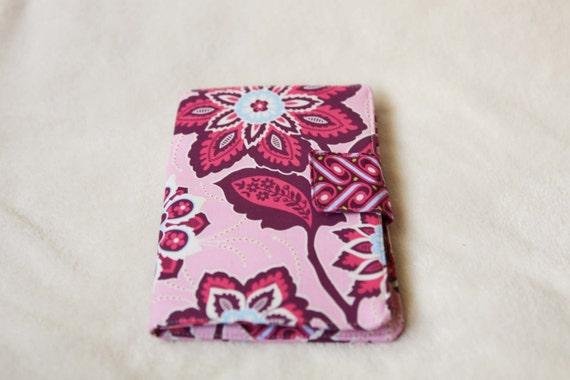 Kindle Fire cover, Kindle Fire case, Kindle Fire cozy- pink, blue, white, joel dewberry heirloom