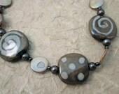 Olive Kazuri Bead Necklace