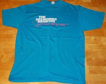 """Des Moines Register """"It Just Keeps Getting Better"""" vintage tshirt Large/XL"""