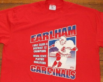 Earlham Cardinals Football vintage t-shirt XL/Large