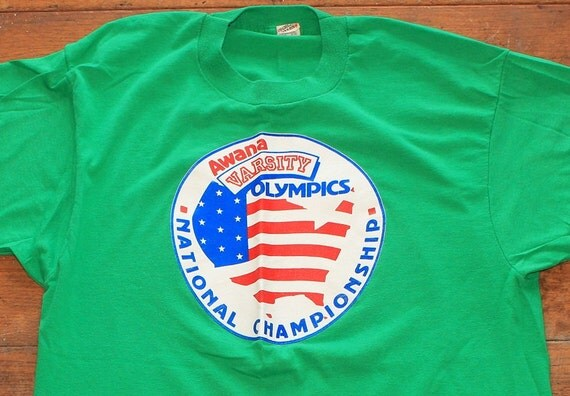 Awana Varsity Olympics National Championship vintage tshirt medium or large