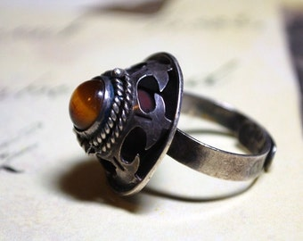 Vintage Mexican Sterling Silver Secret Poison Ring