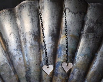 Love Hearts...Solid Brass Hearts on Mixed Metals