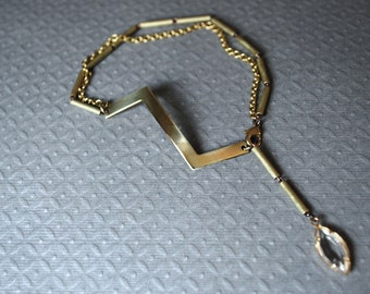Ziggy Stardust...Zig Zag Vintage Brass Bracelet