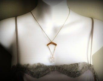 Serafina...Herkimer Point Necklace